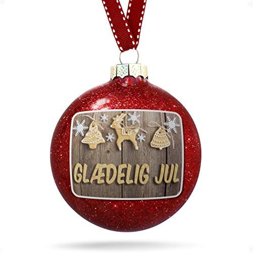 Christmas Decoration Merry Christmas in Danish from Denmark, Faroe Islands Ornament