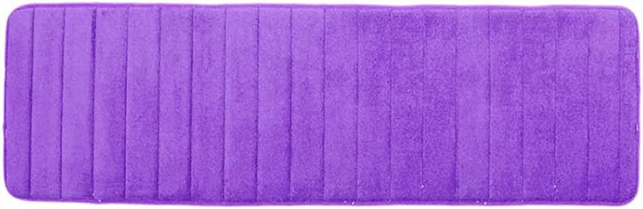osierr6 Long Memory Foam Bath Mat 19.6 x 63 Microfiber Non Slip Absorbent Quickly Drying Bathroom Rug Carpet,Bathroom Floor Mats Water Absorbent Coffee