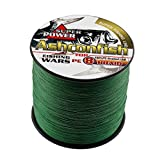 Ashconfish Braided Fishing Line-8 Strands Super Strong Fishing Wire 1000M/1093Yards 200LB-Abrasion Resistant Braided Lines-Incredible Superline-Zero Stretch-Superfine Diameter-Moss Green For Sale