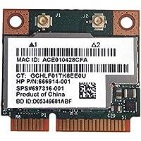 BCM943228HMB / BCM43228 2.4Ghz /5Ghz Wireless 802.11A/B/G/N AND BT Bluetooth 4.0 Half MINI PCI-E WIFI Card SPS:697316-001