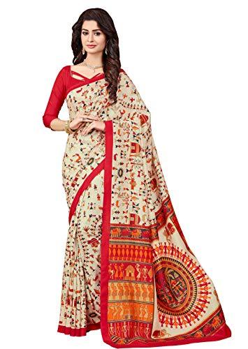 Miraan Art Silk Saree with Blouse Piece