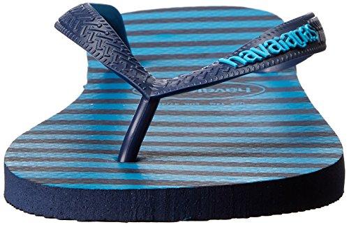 Havaianas Heren Topstrepen Logo Sandaal Marine Blauw