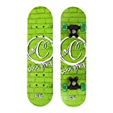 Mini Complete Skateboard Toys for Kids, Suitable for Beginners - 24' Inch - Wooden - Cool Style, Green, Best Gift for Boys and Girls by Xshop