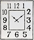 RAZ Imports Square Metal Distressed Clock - 19 by 16 inch