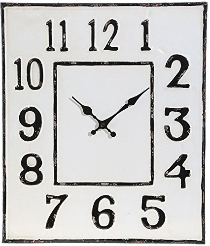 RAZ Imports Square Metal Distressed Clock - 19 by 16 inch by RAZ Imports
