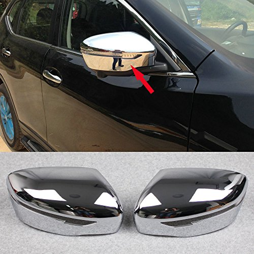 (Generic Chrome Rear View Mirror Side Cover Trim Fit For Nissan Qashqai 2014 2015 2016)