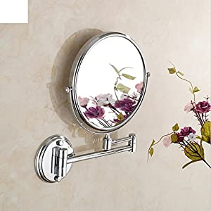 Beauty Mirror/Folding Retractable Bathroom Wall Makeup Mirror  Rotation/Toilet Round Mirror B