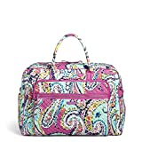 Vera Bradley Iconic Grand Weekender Travel Bag, Signature Cotton, Wildflower Pais