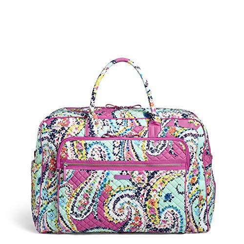 - Vera Bradley Iconic Grand Weekender Travel Bag, Signature Cotton, Wildflower Pais