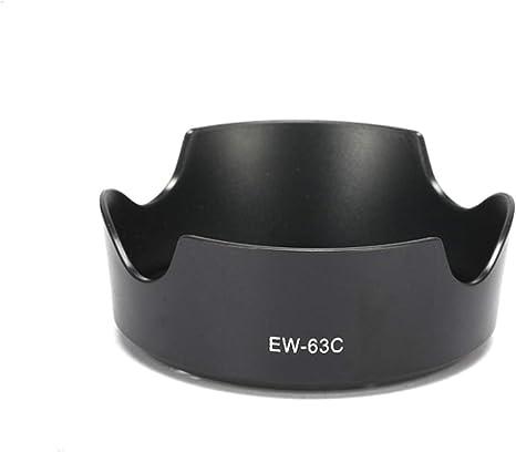 Selens EW-63C Parasol de Cámara Negro para Canon EF-S 18-55mm f ...