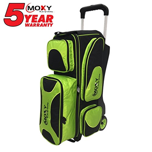 Moxy Deluxe Triple Roller Bowling Bag, Lime/Black by Moxy