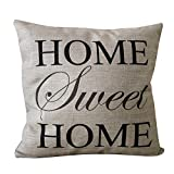Decorative Pillow Cover - CoolDream Home Sweet Home Square Pillow Cover Cushion Case Toss Pillowcase(18