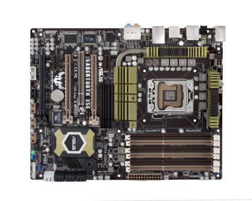 ASUS Socket 1366/Intel X58/Quad SLI & Quad CrossFireX/SATA3.0&USB3.0/A&GbE/ATX Motherboard s SABERTOOTH X58 ()