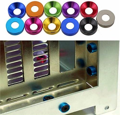 sorliva 5/x M5/Aluminiumlegierung Kegel Cup Kopf Schraube Dichtung Senkkopf Waschmaschine