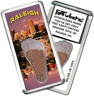 "product image for Raleigh, NC""FootWhere"" Souvenir Fridge Magnet. Made in USA (RLH204 - Dusk Skyline)"