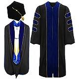 lescapsgown Deluxe Doctoral Graduation Gown Hood