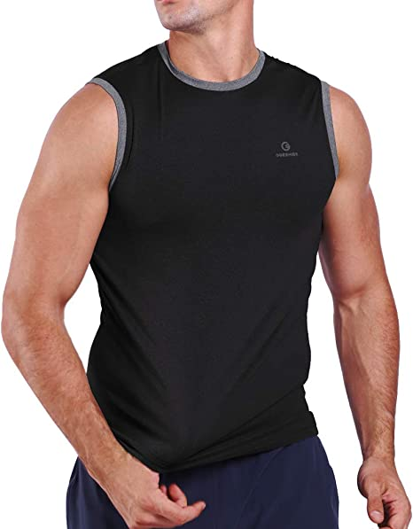 Men Armour Compression Vest Under Skin Base Layer Tank Tops Sleeveless Shirts