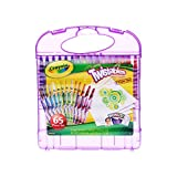Crayola Twistables; 25 Mini Twistables Crayons, 40 Sheets of Paper, Portable Case, Coloring Gifts for Kids