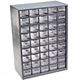Flambeau U45P Parts Station with Clear Styrene Drawers and Dividers