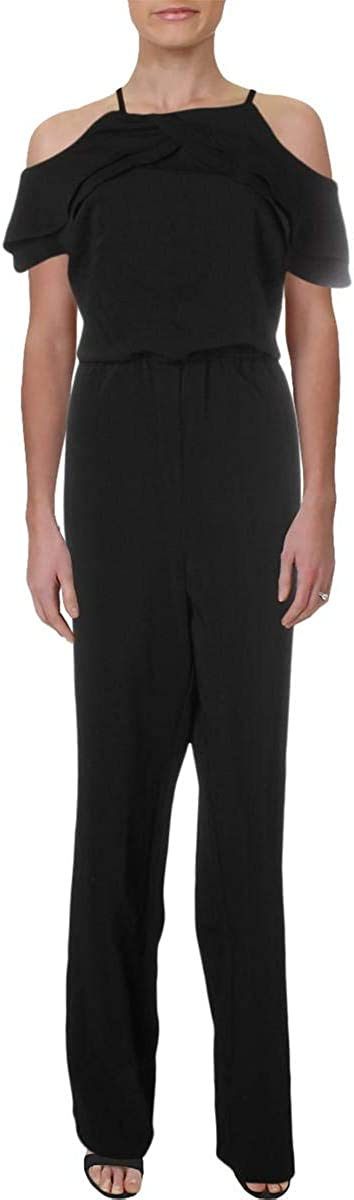 Laundry by Shelli Segal Womens Cold Shoulder Cock Jumpsuit