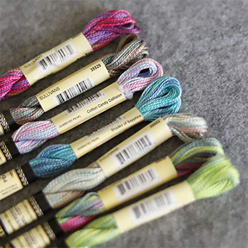 gated Colors Size 5 Pearl Cotton Embroidery Thread 15 Yards Skein 100% Egyptian Long Staple Mercerized,Set B ()