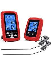 DollaTek Draadloze digitale vleesthermometer, op afstand gecontroleerde temperatuurmeeteenheid voor gerechten en ontvangers, afstandsbediening, barbecue, koken in de keuken, bakken en nog veel meer