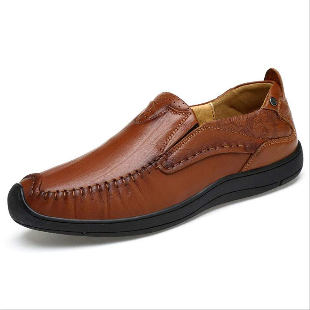 Jiedi Mens Shoes Leather//Spring//Fall Comfort//Driving Shoes Loafers /& Slip-ONS Brown//Comfort Loafers 2018 New