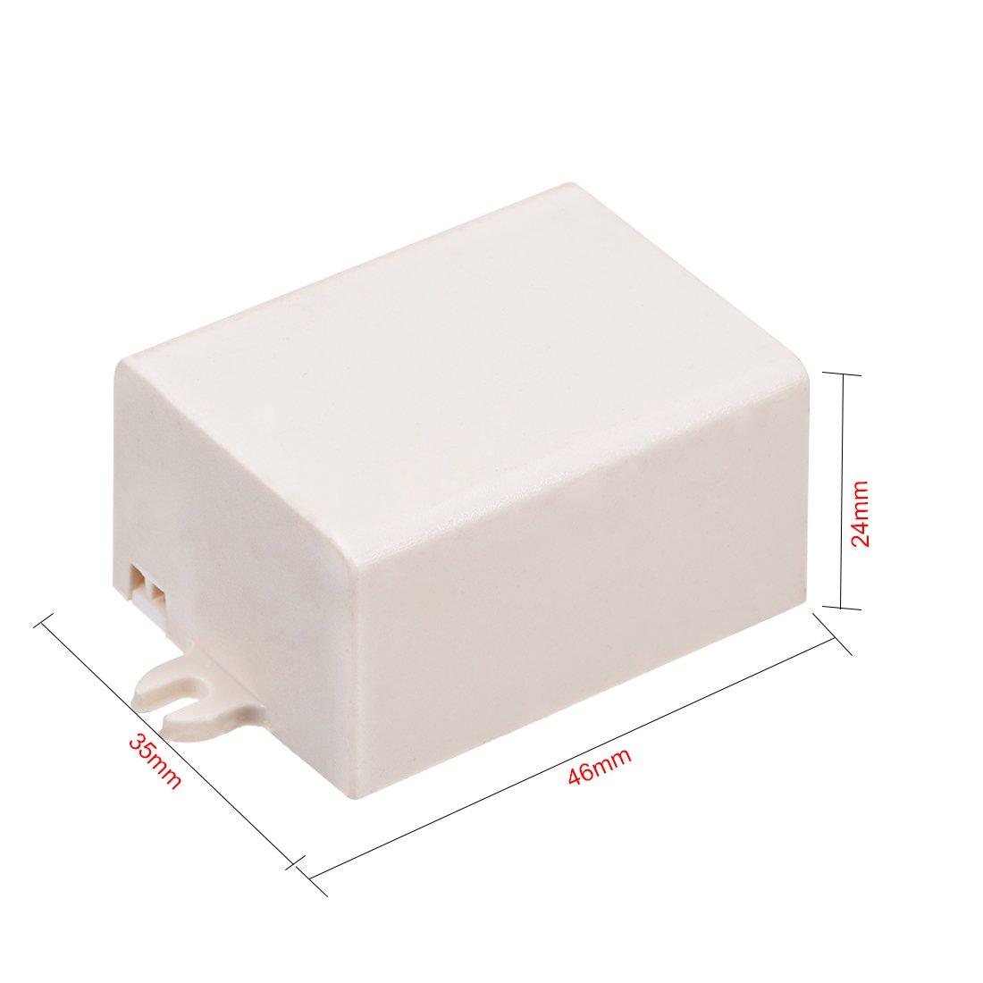 sourcing map 8pcs de 58 x 35 x 15mm Carcasa Caja Electr/ónica DIY de pl/ástico negro