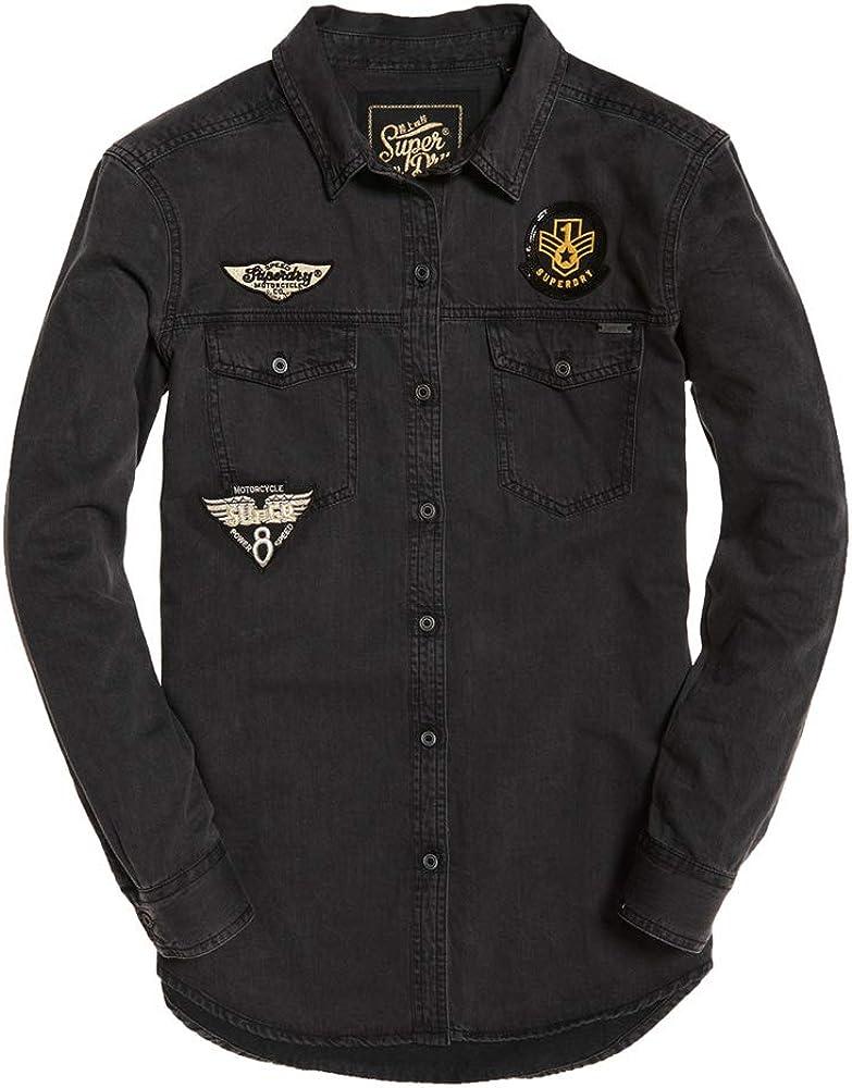 Superdry - Camisa vaquera Biker Grey XS: Amazon.es: Ropa y accesorios