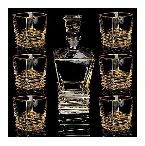 Whiskey Decanter Whiskey Decanter And Glasses Set Tumbler Lead Free Crystal With 6 Crystal Glass Cup For Spirits Bourbon Or Scotch Unique Stylish Gift Box