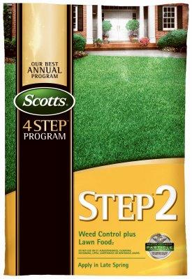 Scotts Lawns 23616 Lawn Pro Step 2 Weed Control Plus Lawn Fertilizer, 28-0-3, Covers 5,000-Sq. Ft. - Quantity 80