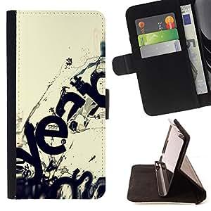 - DESTRUCTION MODERN WAVE ECOSYSTEM ART - - Prima caja de la PU billetera de cuero con ranuras para tarjetas, efectivo desmontable correa para l Funny HouseFOR Sony Xperia Z1 L39