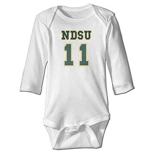 Duola Ndsu Carson Number 11 Logo Long Sleeve Romper Play Suit For 6-24 Months Newborn Baby 12 Months White ()