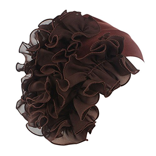 TWGONE Womens Wrap Cap Flower Chemo Hat Beanie Scarf Turban Headband(One ()
