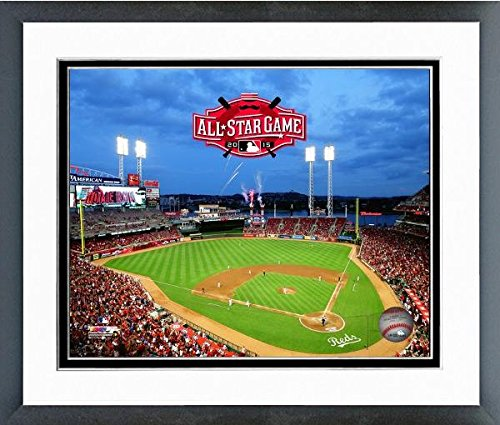 "Cincinnati Reds Great American Ball Park MLB Stadium Photo (Size: 12.5"" x 15.5"") Framed"