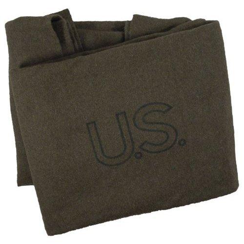 Olive Drab Wool Bed Blanket, Genuine U.S. Military Surplus; NSN: 7210-00-282-7950