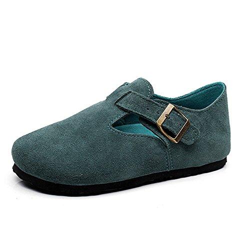 ZHANGRONG-- Zapatos de mujer zapatos de fregar Primavera y verano Acogedor piso superficial con zapatos casuales ( Color : Verde oscuro , Tamaño : 36 ) Verde Oscuro