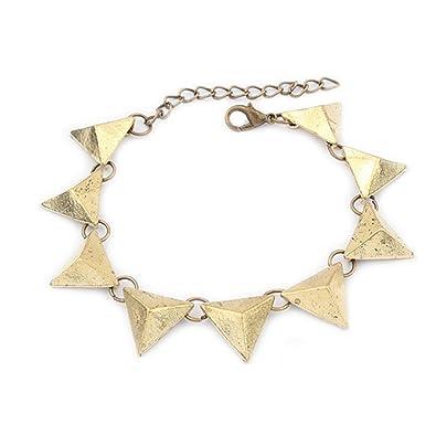 Vintage bracelet avec pendentifs en forme de triangle   Br en optique d or  de 5dee9770c5e7