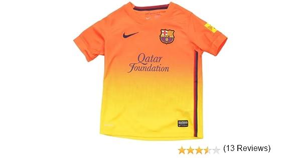 Nike Barcelona F.C. - Camiseta de fútbol infantil, 2012-13 color naranja: Amazon.es: Ropa y accesorios