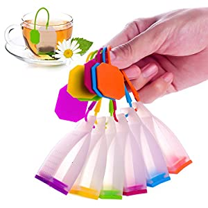 ME.FAN™ Silicone Reusable Tea Bag Candy Silicone Tea Infuser Strainer Set - Genuine Premium Loose Leaf Infuser Set In Bright Colors (6 Set) - Best Gift in Home Or Offices from ME.FAN