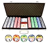 11.5g 500pc Royal Flush Poker Chips Set (Small Image)