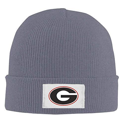 WHROOER Crochet Georgia Bulldogs Football UGA Logo Beanie Hats ()