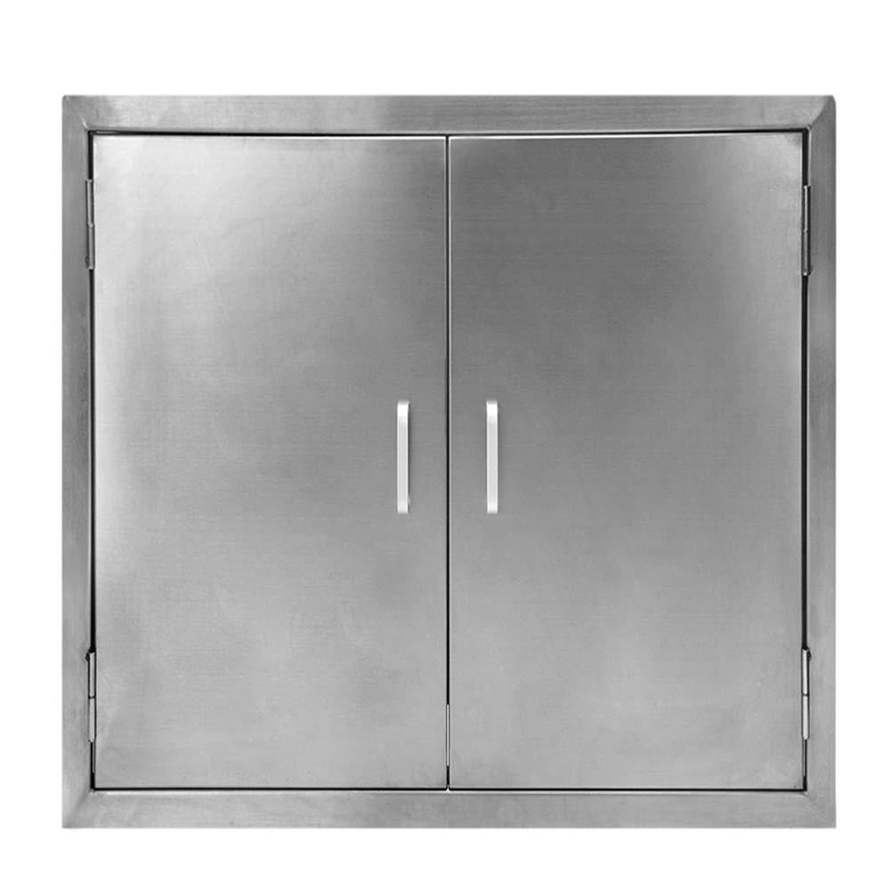 Seeutek Outdoor Kitchen Doors BBQ Access Door 24W x 24H Inch - Stainless Steel Double Wall Construction Vertical Door for Outdoor Kitchen Grilling Station or Commercial BBQ Island