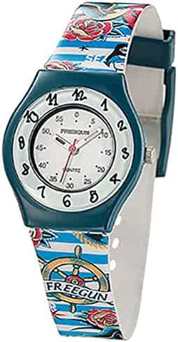 Freegun ee5191 - Boys 'Watch - Analogue Quartz - White Dial - Bracelet Multicolor Plastic
