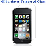 Welpad® For Apple iphone 3G 3GS Premium Tempered Glass Screen Protector cover film Guard