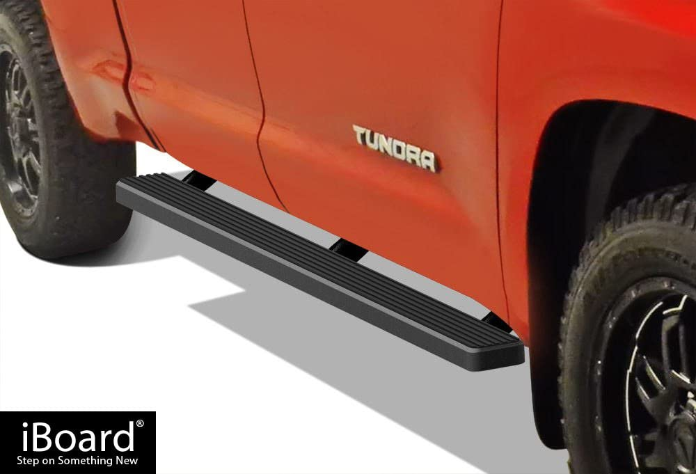 iBoard Third Generation, for Selected Toyota Tacoma Access Cab, Aluminum APS IBTZ5943 Black 4 Running Board Side Step