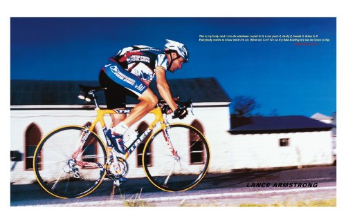 Innerwallz Lance Armstrong -Cycling Athlete Art Print - Athlete Memorabilia - 11x17 Poster, Vibrant Color, Features Lance Armstrong.