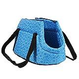 Pet Travel Carrier Tote Bag - SODIAL(R) Foldable and washable Small Dog Cat Pet Travel Carrier Tote Bag Purse Bag Soft padded small pet shoulder carrier bag tote. Blue