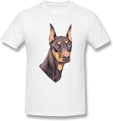 Camiseta Blanca de algodón Doberman Pinscher Dog Design para ...