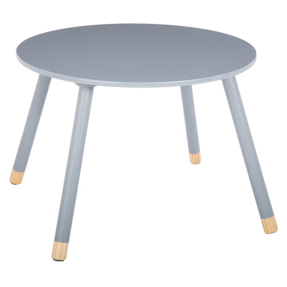 Tavolino rotondo in legno per bambini - Colore: GRIGIO ATMOSPHERA